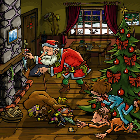 Santa y traviesos